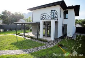 Современный дом с участком 9 соток возле ст.м.Осокорки 5мин. на закрытой територ