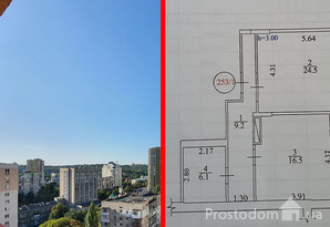 Видовая 1-комнатная квартира в SOHO-residence на ул. Демеевская, 13