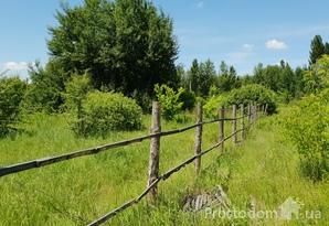 Участок в с. Козин (Конча Заспа) возле леса и речки